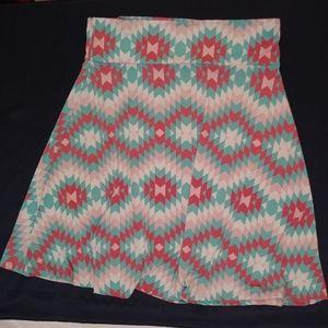 Lularoe azure skirt Aztec print size 3XL